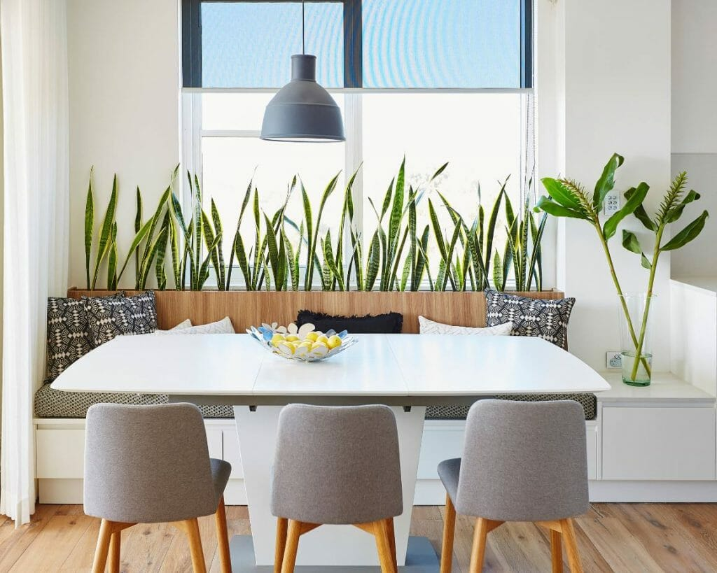 how to incorporate nature into your home- built in planter