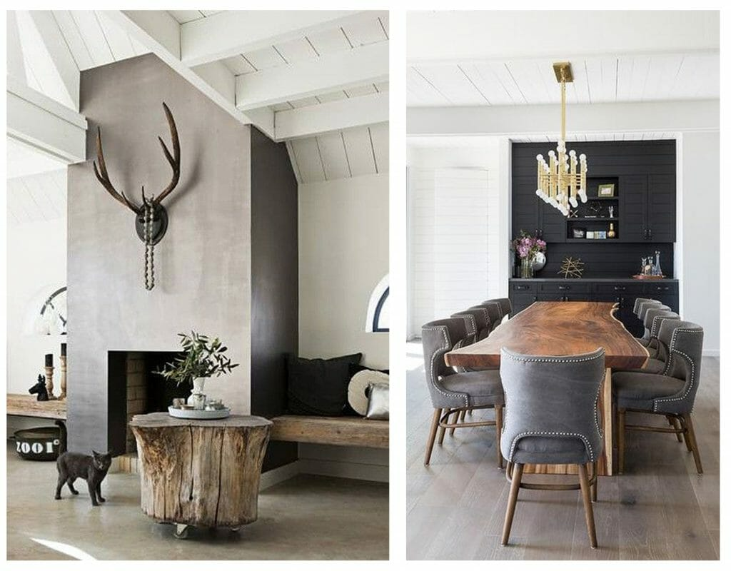 how to incorporate nature into your home- raw materials