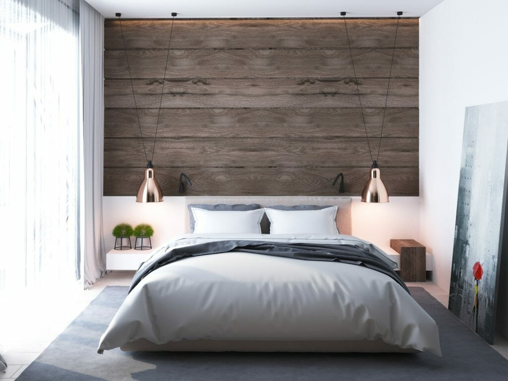 Scandinavian interior design bedroom lighting