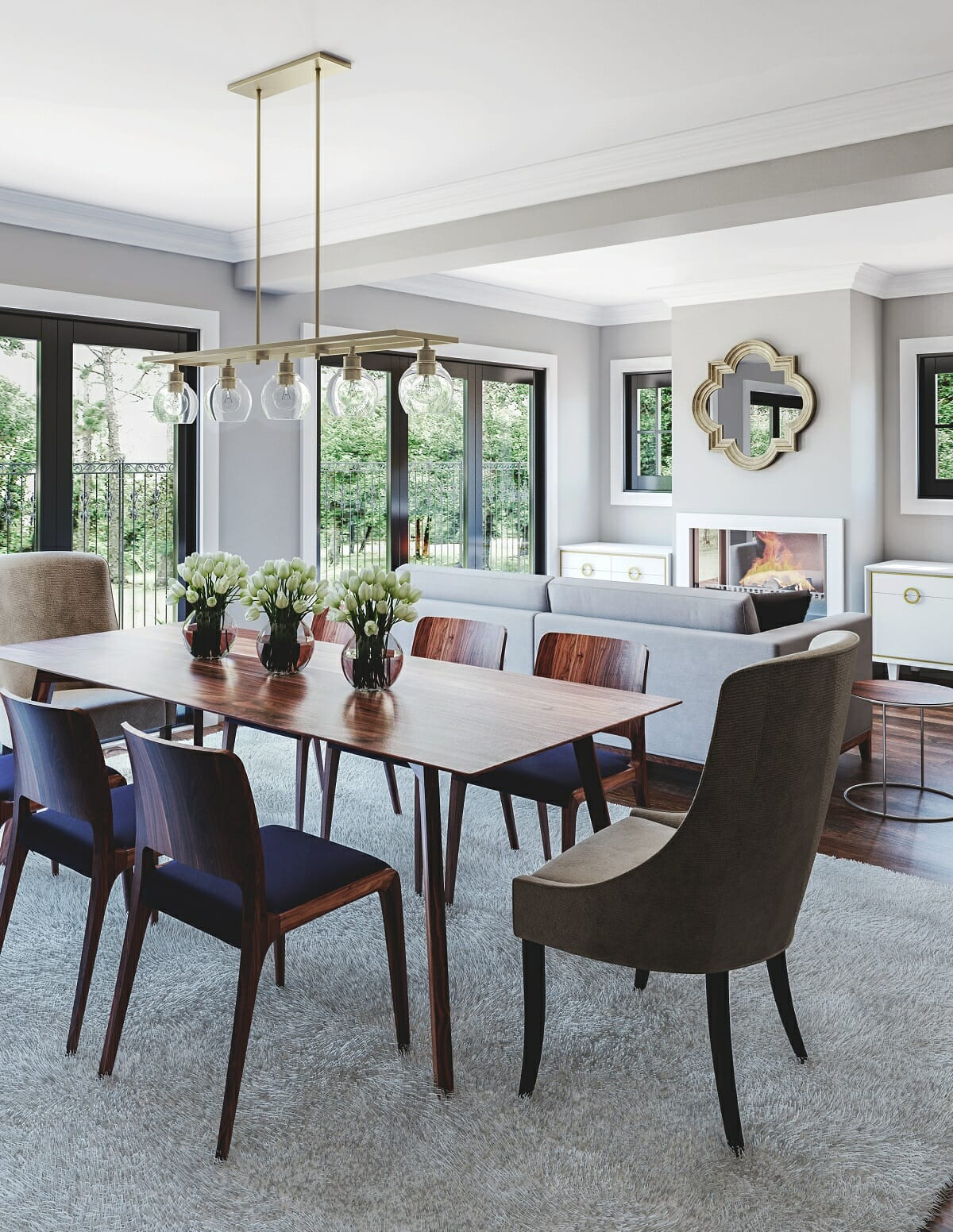 find an interior designer for the living-dining room