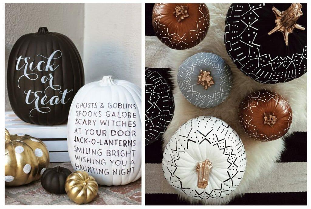 halloween decor trends painted pumpkins