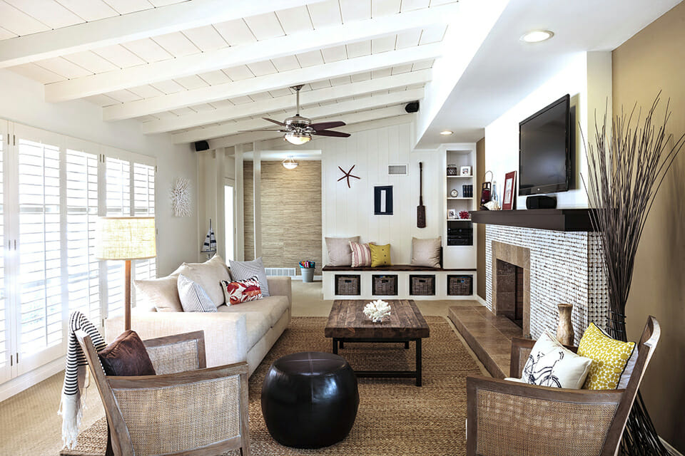 Neutral living room interior design