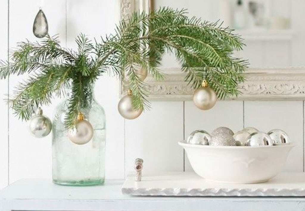 Winter Coastal Decor Branches Ornaments