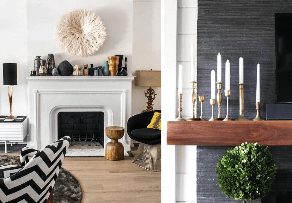 how to decorate a modern mantel collection