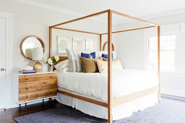 California home design wood bed