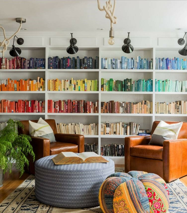 how to organize your home- book organization