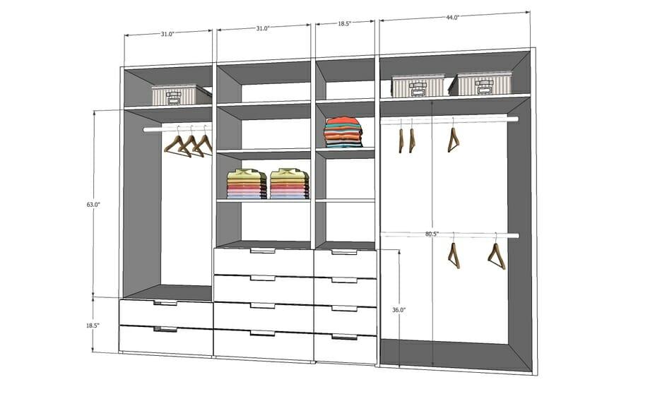 Online Closet Design Elevation By Decorilla