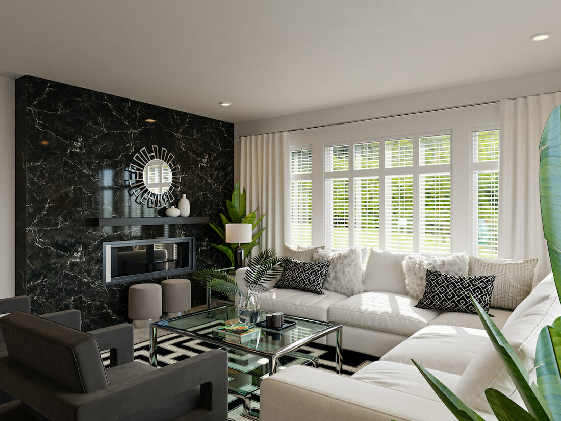 Black and white small apartment decorating ideas