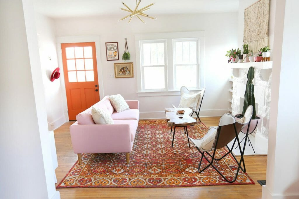 How to Incorporate Pink Decor into your home bold piece