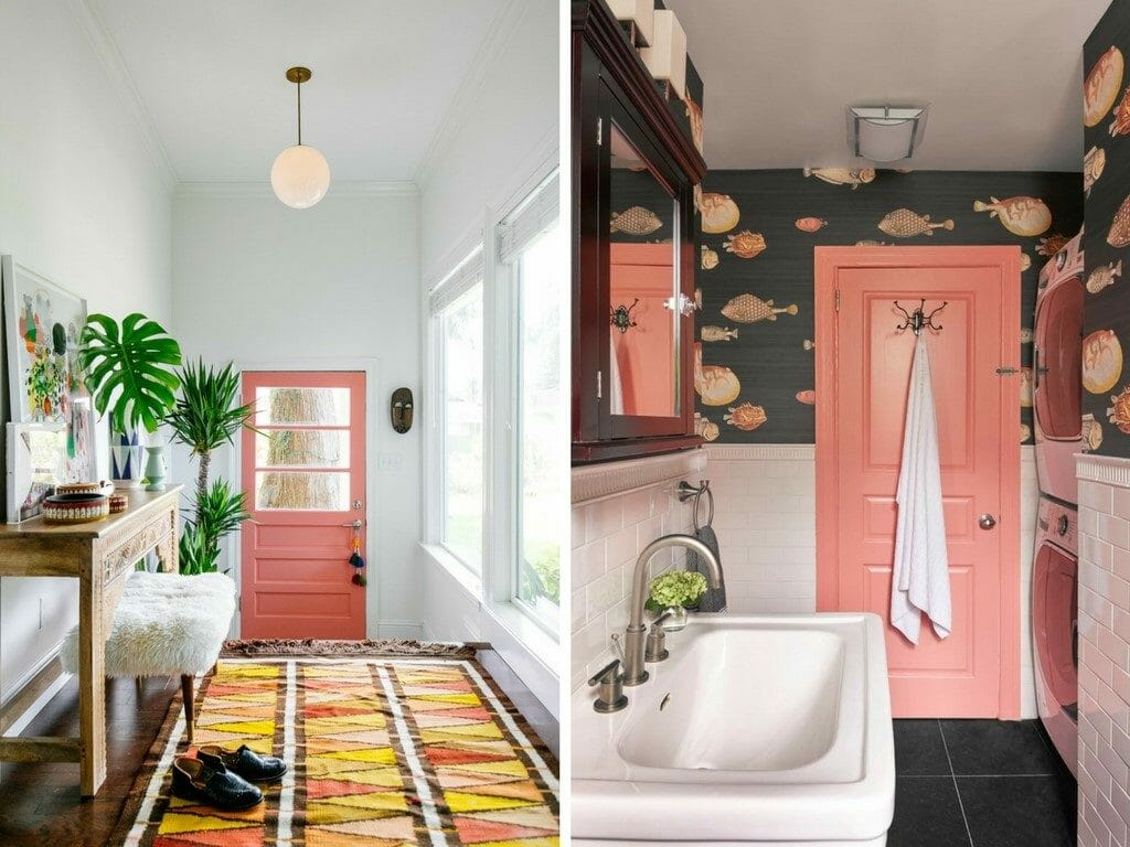 How to Incorporate Pink Decor into your home entry