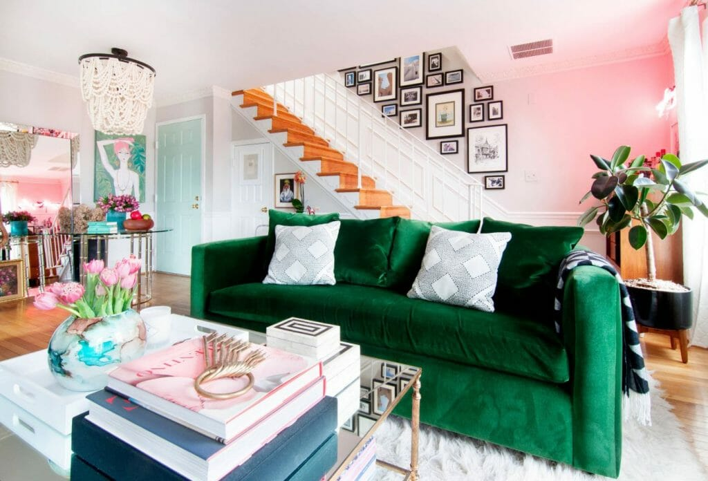 spring interior design trends vivid color