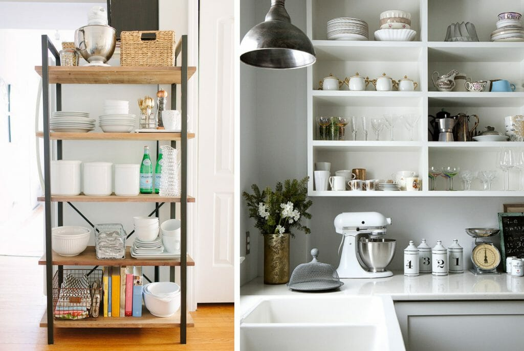 8+9_easy options to implement kitchen open shelving