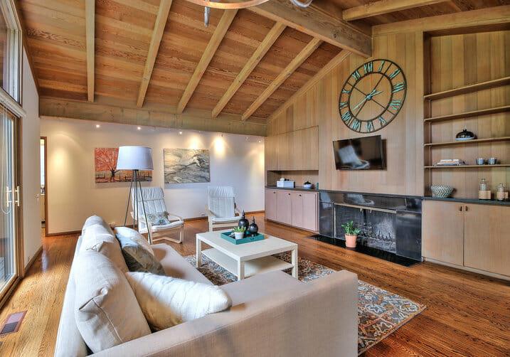 ceiling wood paneling
