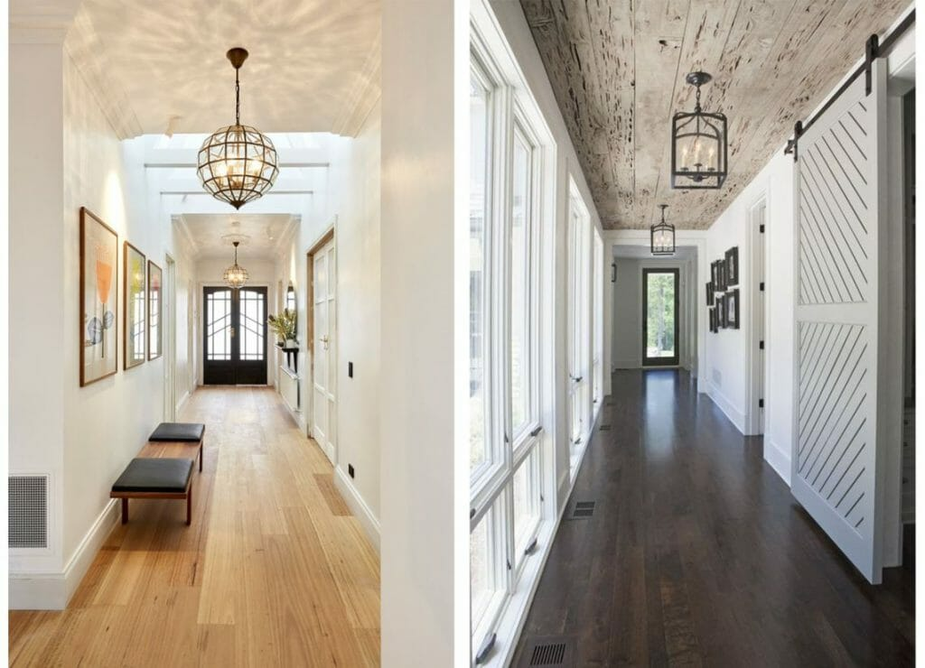 hallway decorating ideas light fixture