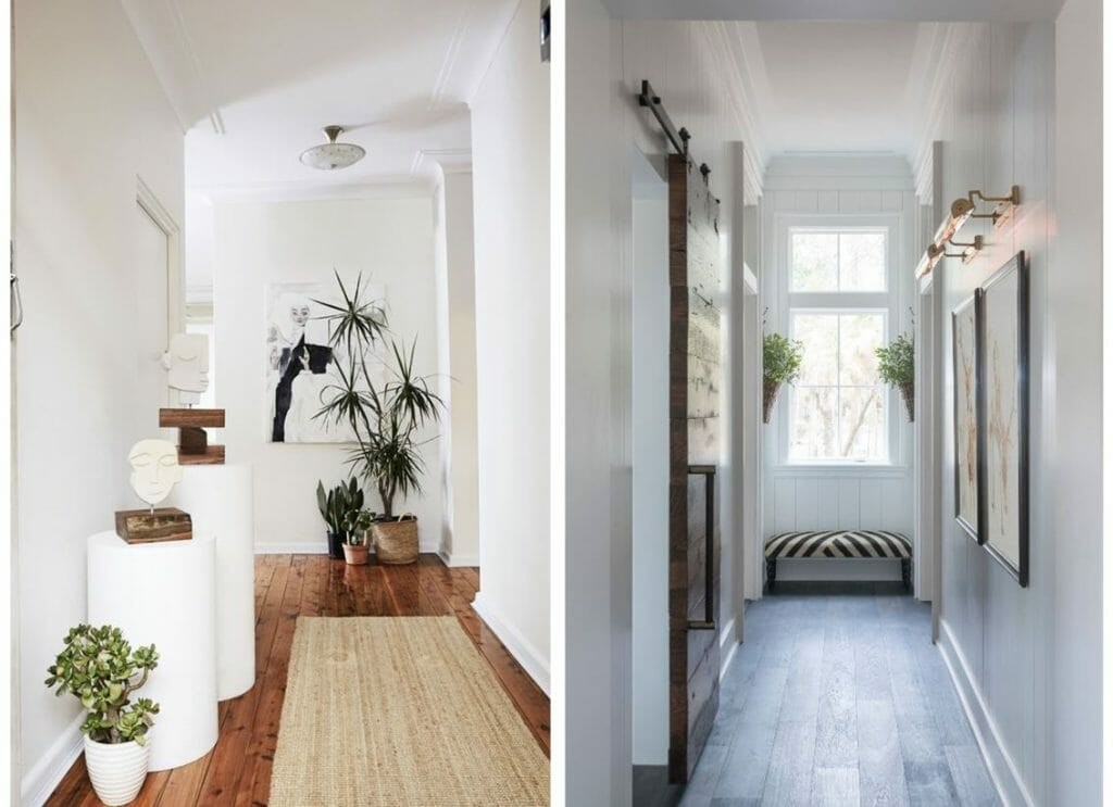 hallway decorating ideas plants