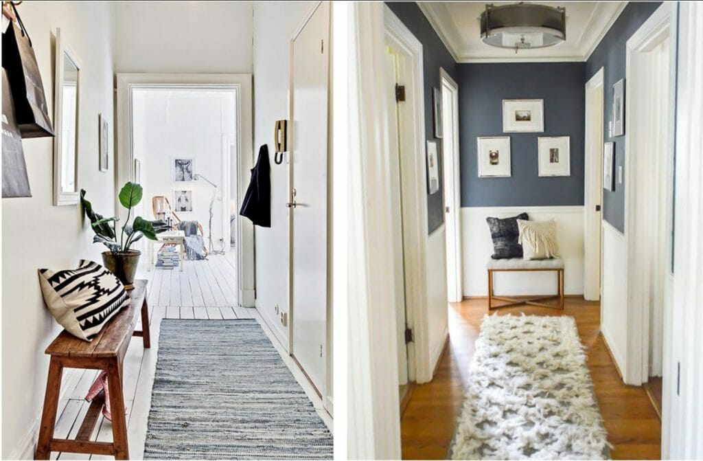 hallway decorating ideas seating