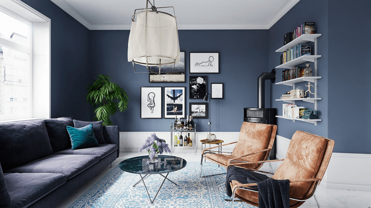 summer blue interior design trend