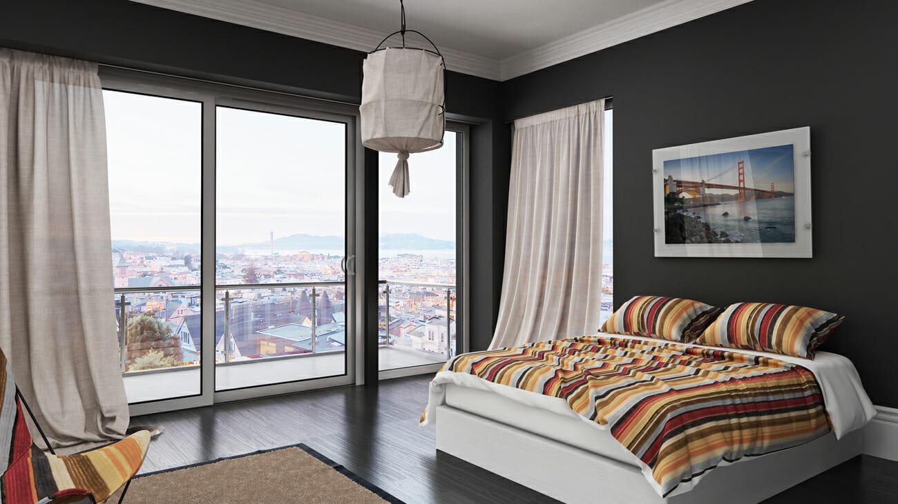 minimal eclectic interior design bedroom