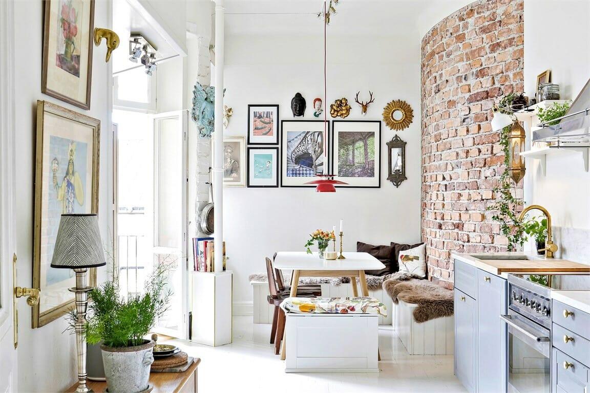 Online Studio Apartment Design white