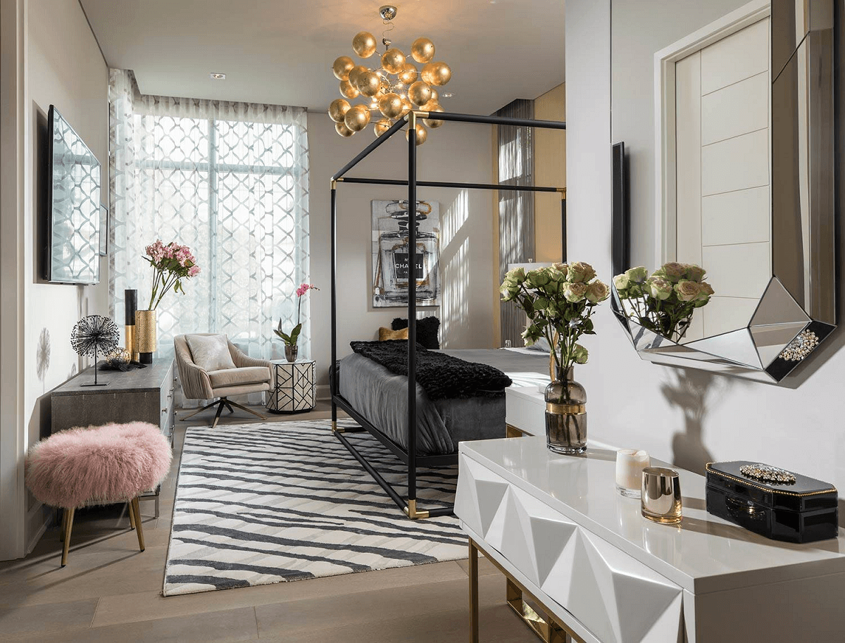 hire an interior designer glamorous style