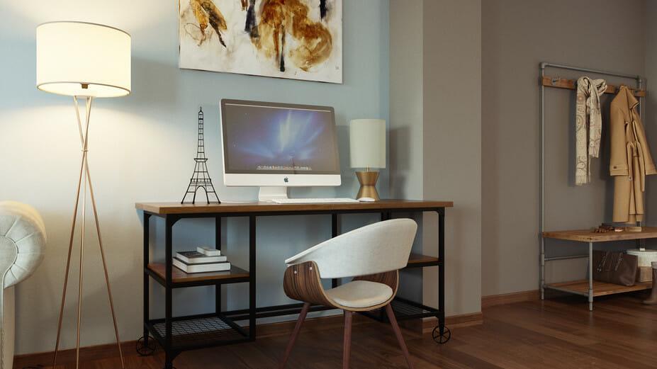 modern living room work area