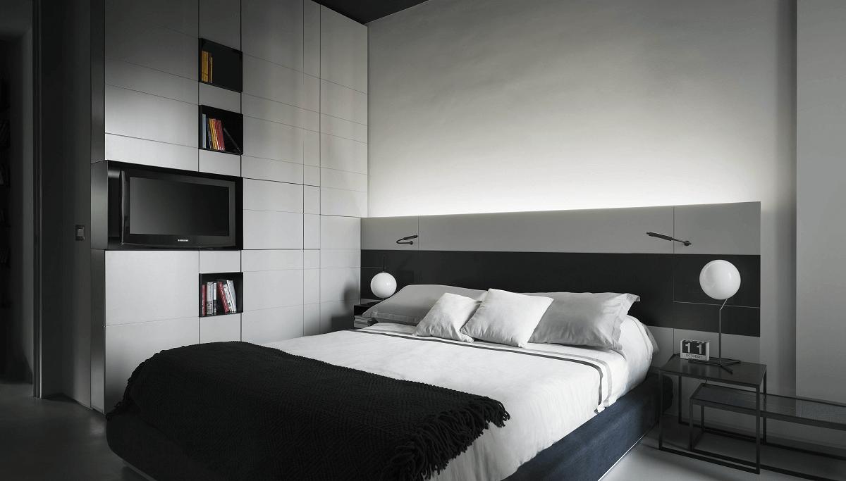 sleek bedroom by Decorilla interior designer, Roberto D.