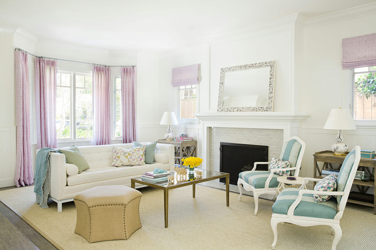 transitional-home-interior-design-living-with-pastel-blue-and-lilac-accents-in-the-curtains-and-chairs