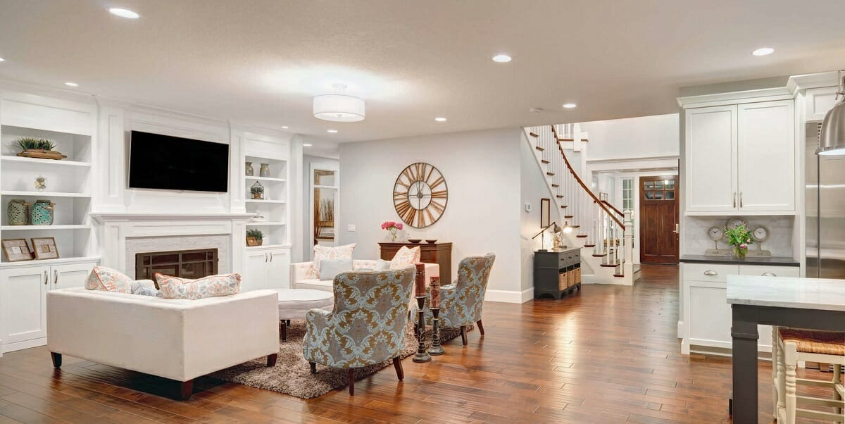 transitional interior design classic contemporary