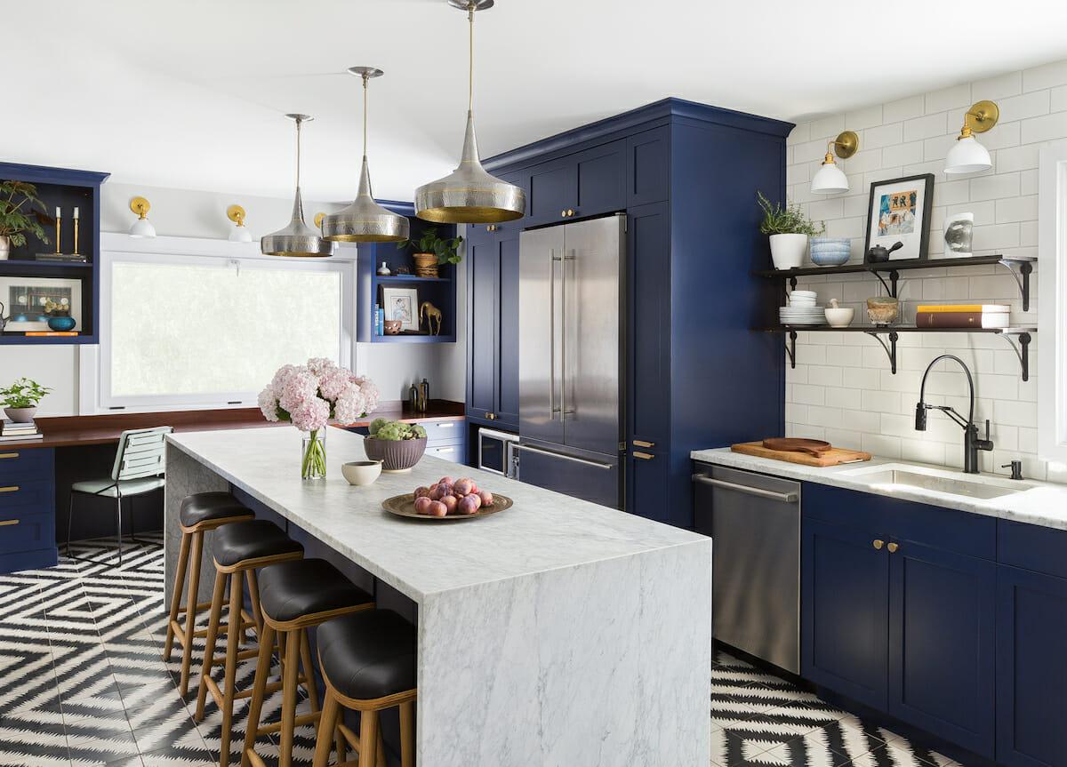 Bold kitchen by seattle interior designers brio interiors