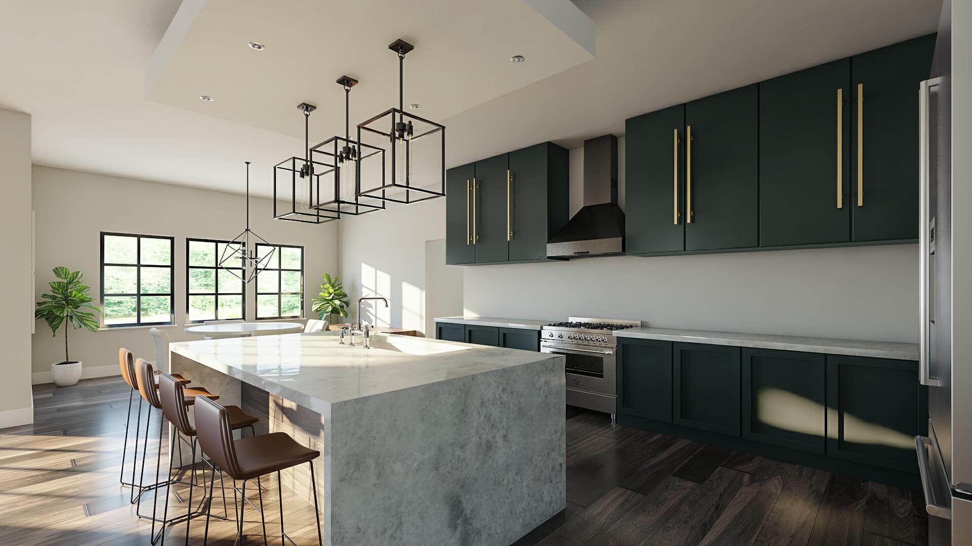 contemporary home design online kitchen