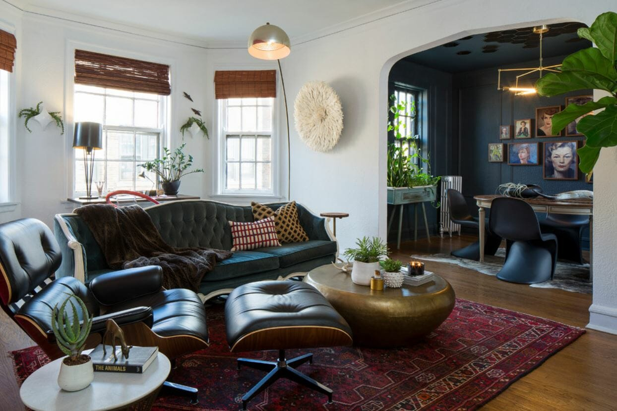 eclectic studio apartment online design
