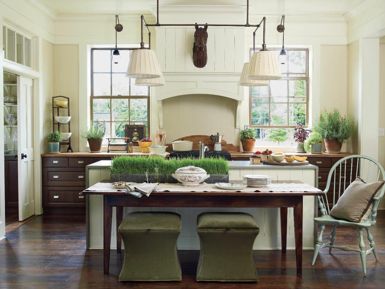 modern farmhouse interior design greenery