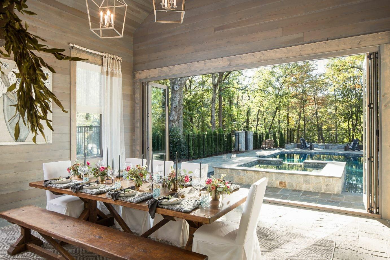 modern farmhouse interior design outdoor dining