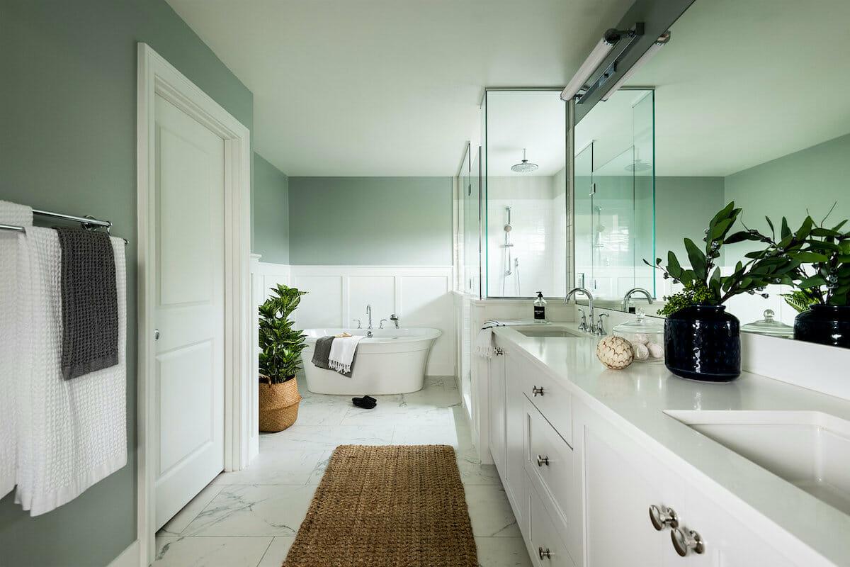 spa-like bathroom by interior decorators seattle - elegant simplicity