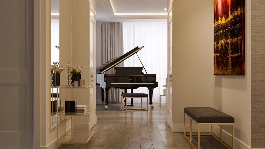 contemporary hallway interior design
