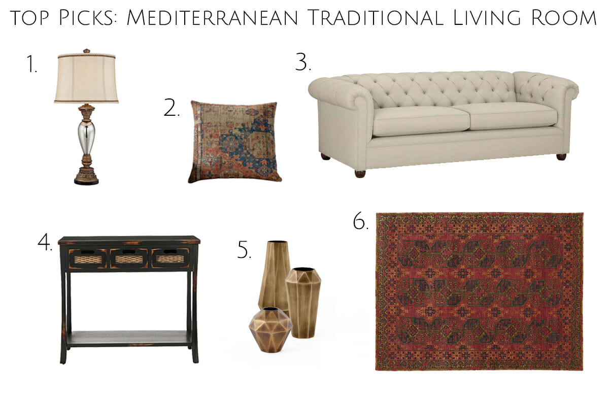 get the look mediterranean traditional online interior design