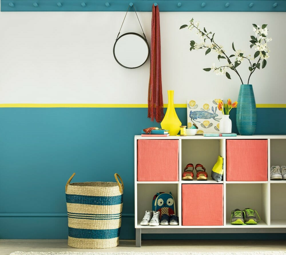 hallway interior design colourful dominic blackmore