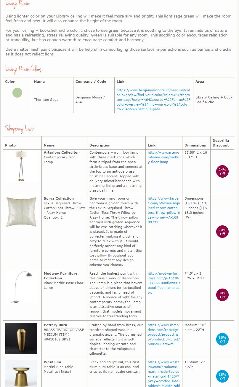library interior design online shopping list