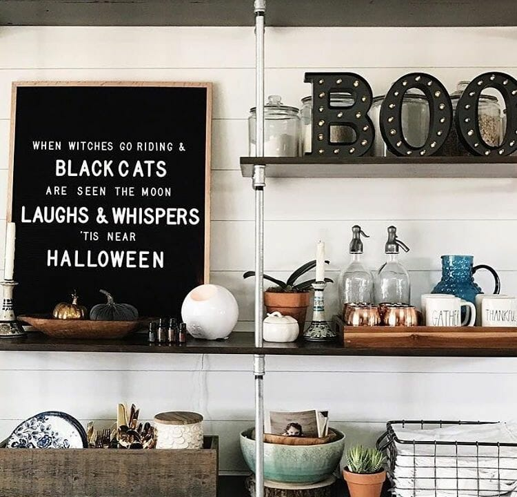modern halloween decorations letterboard