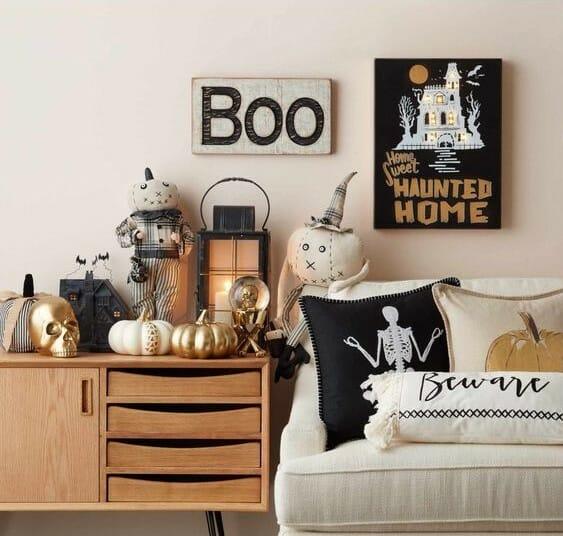 modern halloween decorations pillows