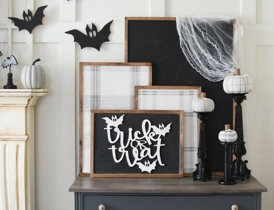 modern halloween decorations statement art