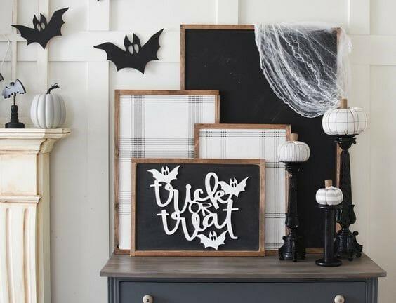 modern halloween decorations statement art