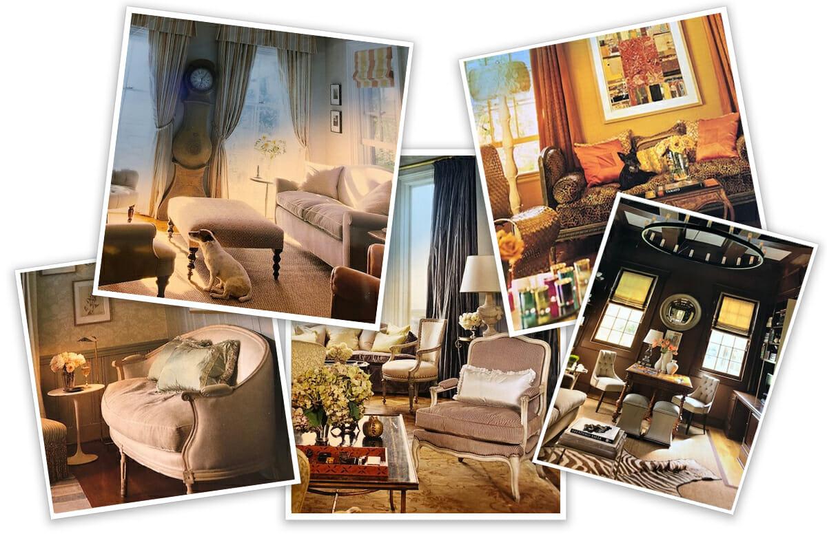moody online library interior design inspiration