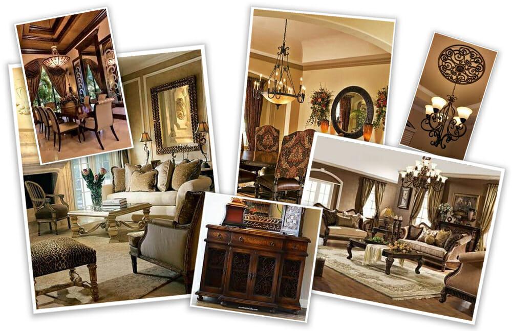 rustic mediteranean online living room interior design