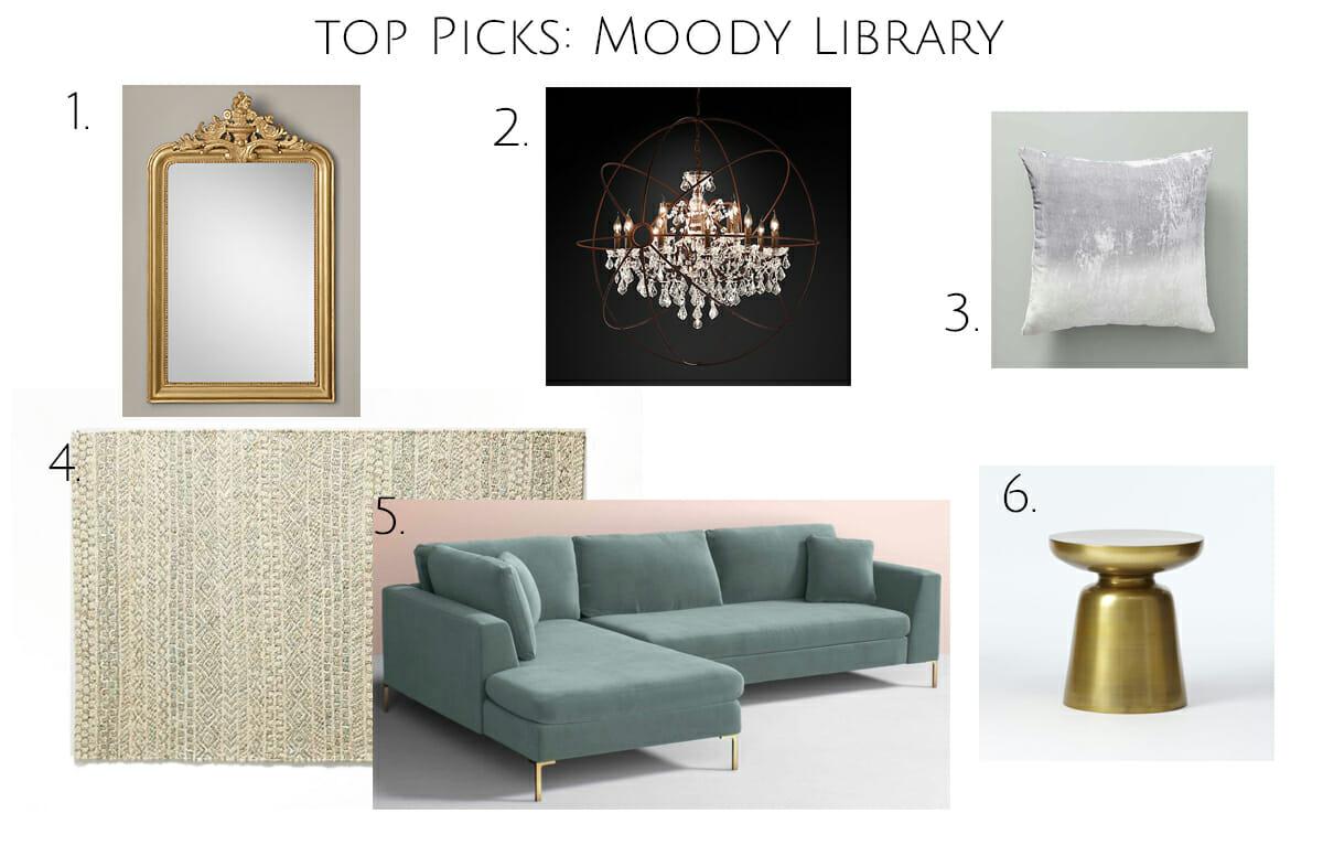 top picks moody online library interior design