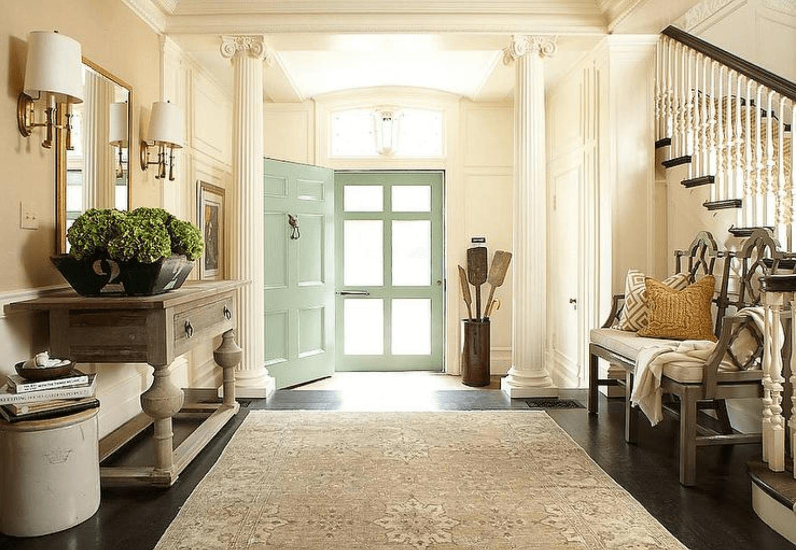 traditional hallway interior design