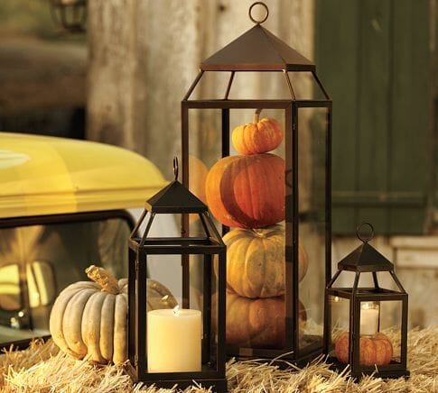 fall table decorating ideas lantern