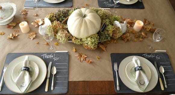 fall table decorating ideas placemat