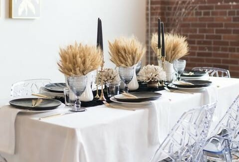 fall table decorating ideas wheat centerpiece