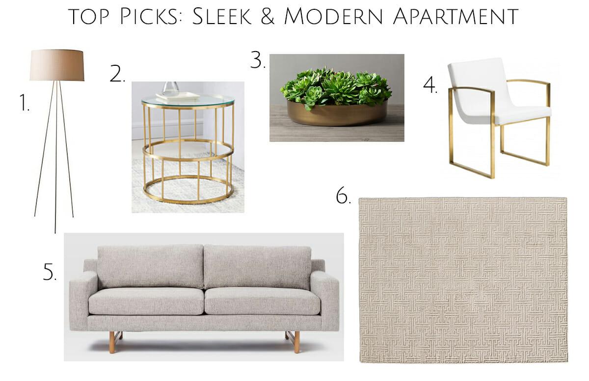 top picks sleek and modern apartment design